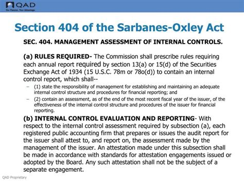 section 404 of the sarbanes oxley act ppt ifrs sox overview presentation lance lacross cpa