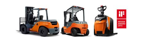 toyota product line toyota material handling wint drie awards