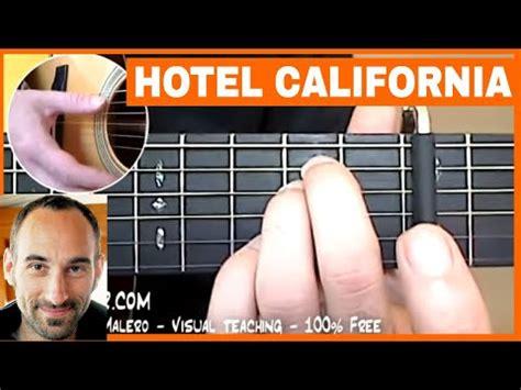 tutorial guitar hotel california hotel california guitar lesson part 1 of 7 youtube