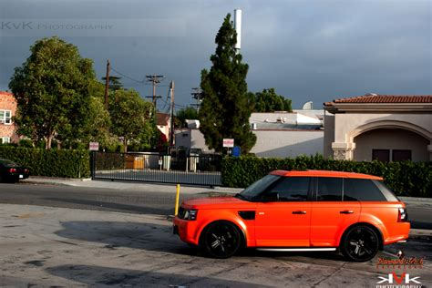 matte orange range rover satin orange rover sport wrapped by dbx black