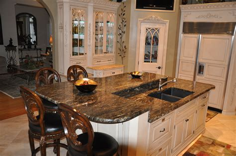 Unfinished Kitchen Island With Seating by Completed Projects Custom Stone Interiors