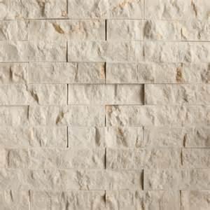 Kitchen Wall Panels Backsplash crema marfil split face natural stone mosaic