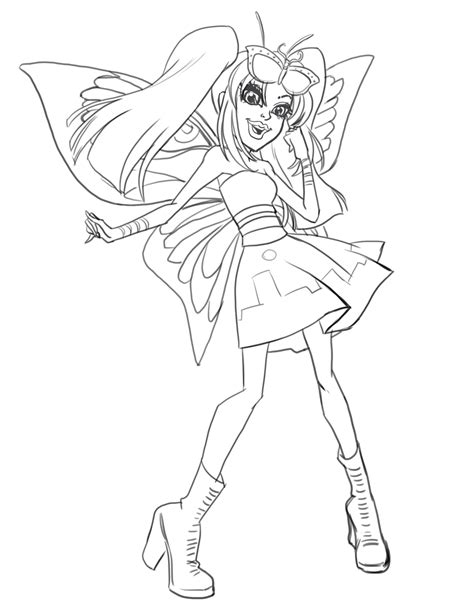 monster high luna mothews coloring pages monster high boo york luna mothews coloring pages coloring