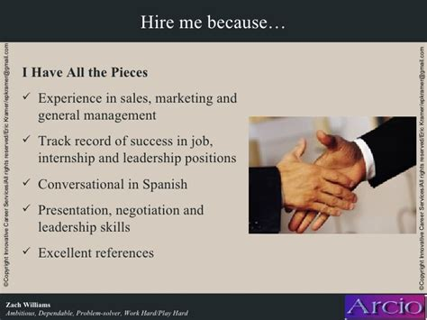 Why Hire Me Template Interviewbest Presentation Exle Entry Level