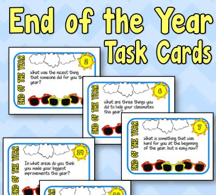 end of year greetings end of the year task cards free minds in bloom