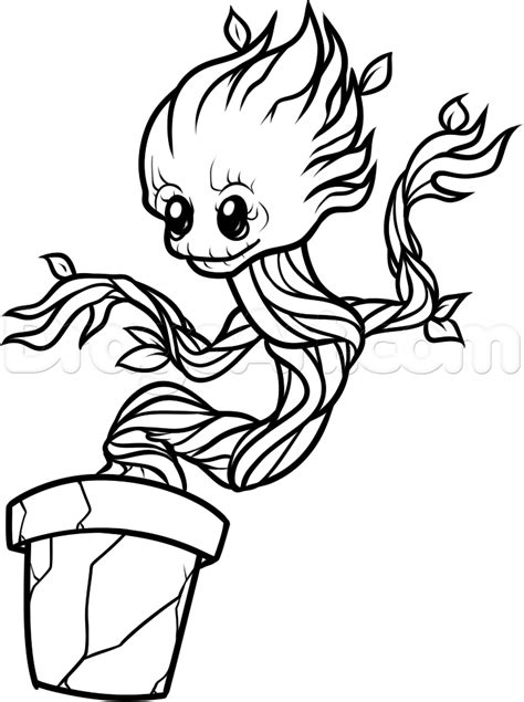baby marvel coloring pages how to draw baby groot step by step marvel characters