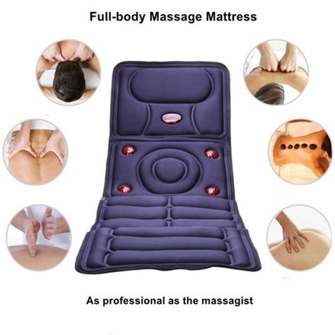 massage pad for bed collapsible full body massage mattress multifunction