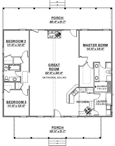 home design 40x40 square house plans 40x40 the makayla plan has 3 bedrooms