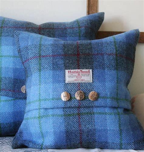tartan rugs and cushions bluebell harris tweed throw pillows tartan wool blankets and