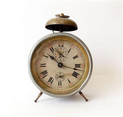 antique 1910s alarm clock germany vintage desk table