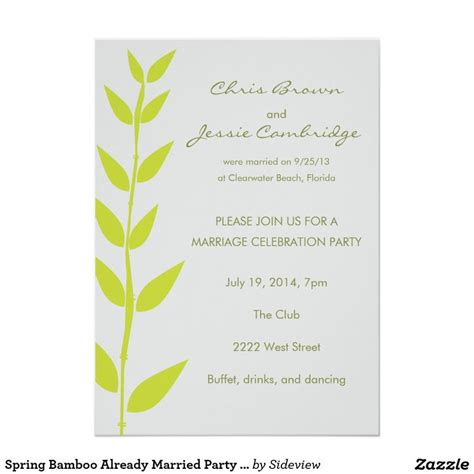 wedding invitation wording already married couple google