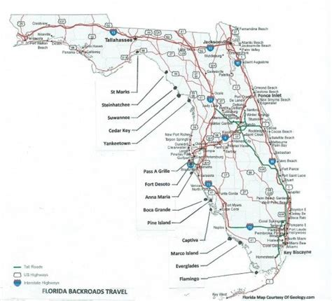 road map florida florida end of road towns where characters to gather