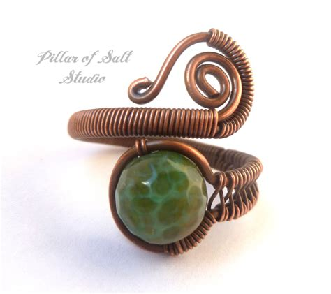 wire wrapped jewelry handmade copper wire by