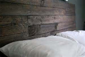 industrial and reclaimed wood headboard espresso