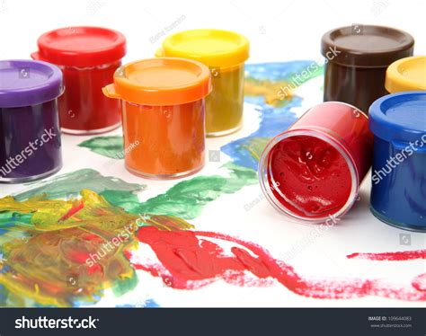 color paints for drawing stock photo 109644083