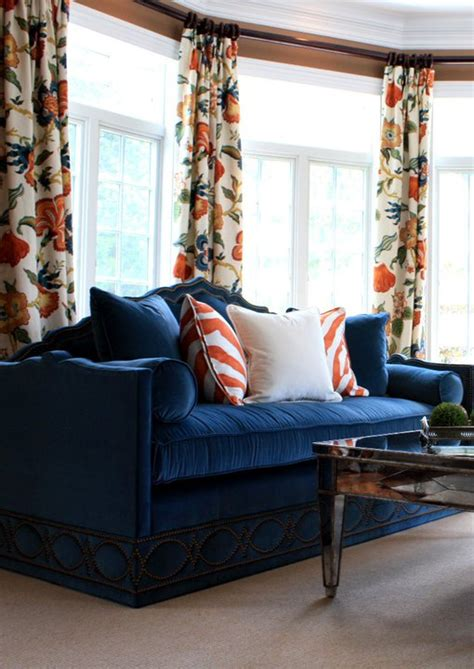 orange and blue drapes orange drapes contemporary dining room mary mcdonald
