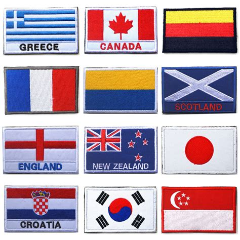flags of the world patches embroidered country flag patches army badge patch 3d