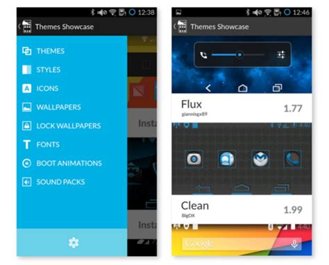 cyanogen themes store cyanogen theme showcase app now available from google play