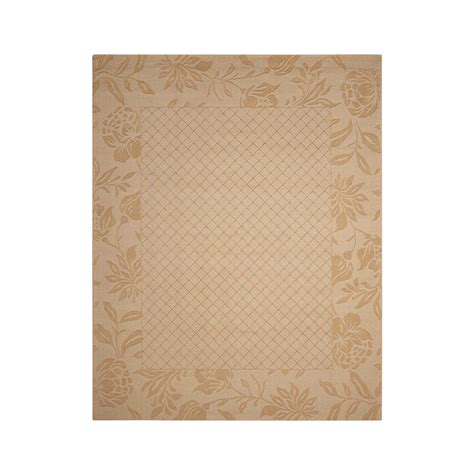 overstock area rugs nourison overstock barcelona light gold 7 ft 9 in x 9 ft 9 in area rug 090690 the home depot