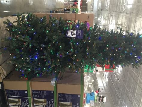 9 ft costco christmas tree pre lit led ez connect dual color chrismas trees at costco costcochaser
