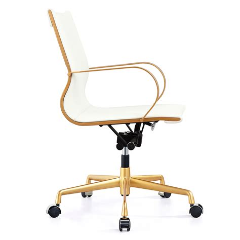 white and gold desk chair white gold desk chair chairs seating