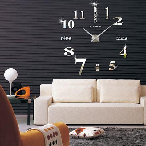 designer wanduhren wohnzimmer diy silber riesen design wanduhr wohnzimmer wandtatoo 3d