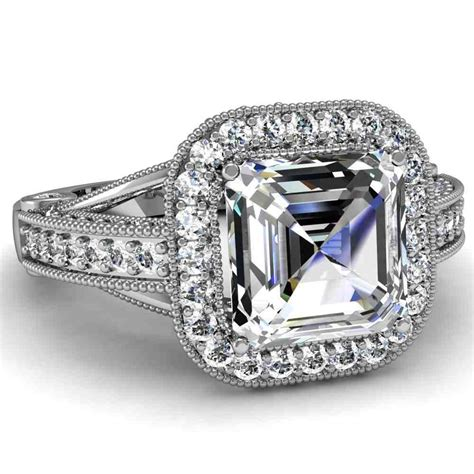 Wedding Rings Cuts by Asscher Cut Engagement Rings Choose The Setting