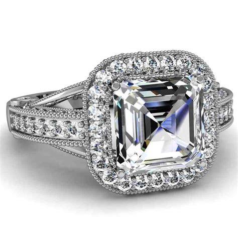 asscher cut engagement rings choose the setting