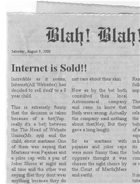 create your own newspaper template empty newspaper template