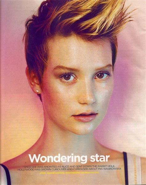 hair and makeup queanbeyan mia wasikowska by georges antoni from the sunday