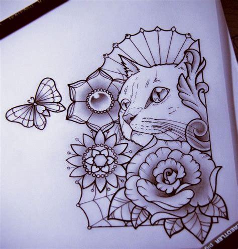 tattoo sketch cat 121 best tatus images on pinterest tattoo ideas cat