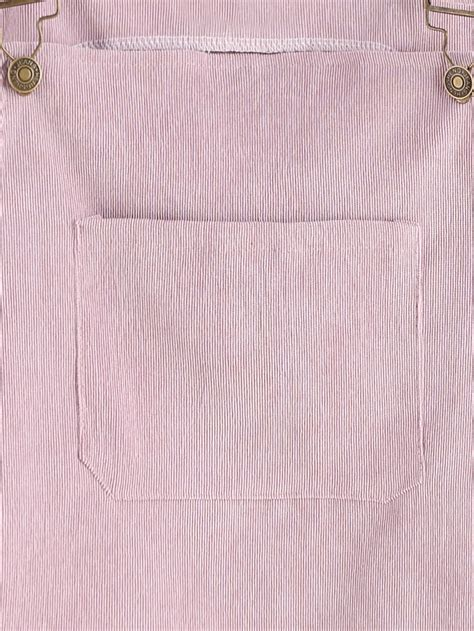 Pink Overall Pocket pink corduroy overall dress with pocket shein sheinside