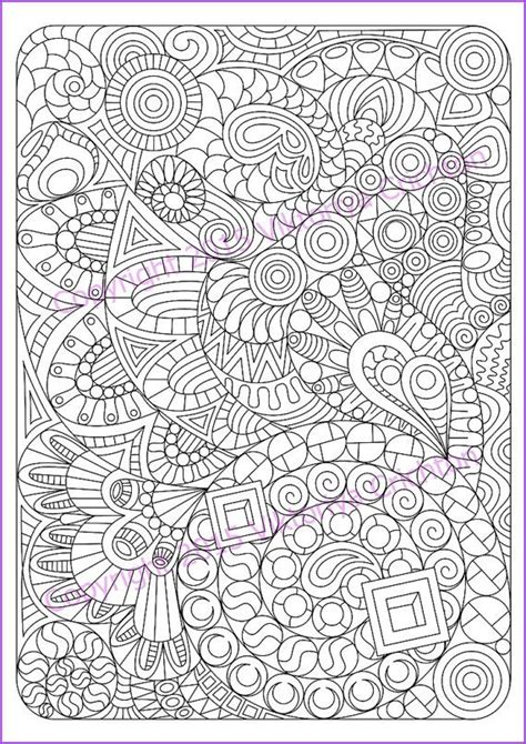 Adult coloring page Zentangle Pattern, zentangle inspired