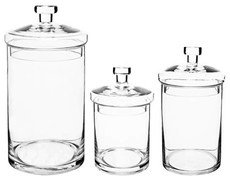 bathroom jars with lids kitchen bath glass apothecary jars with lids set of 3