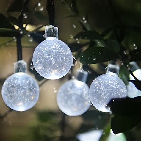 Innoo Tech Solar Globe Fairy Lights 30 Led White Crystal Led String Lights For Patio