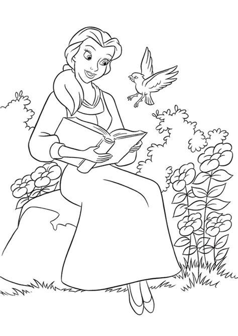 disegni da colorare della e la bestia legge un libro disegni della e la bestia