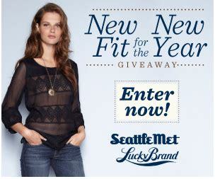 Win Pairs Of Lucky Brand by Seattle Met New Fit For The New Year Giveaway Win A Pair
