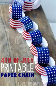 4th of july crafts for kids a patriotic paper chain
