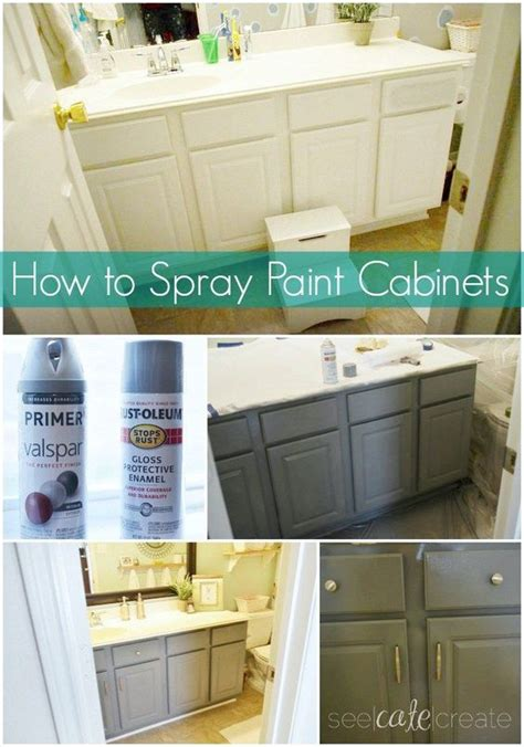 how to remove spray paint from bathtub how to spray paint cabinets bathroom makeover learn how