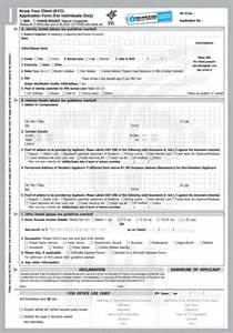 Credit Card Kyc Form State Bank Of India Kyc Form Pdf 2017 2018 Studychacha