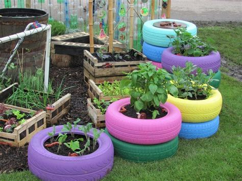Tire Planters Garden by Car Tire Planter Quot Go Green Quot Organic Eco Friendly