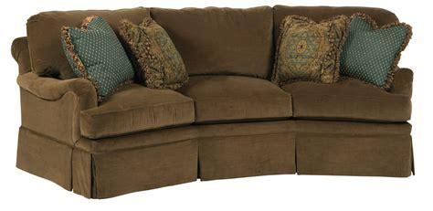 traditional curved sofa kincaid furniture jackson traditional curved sofa with
