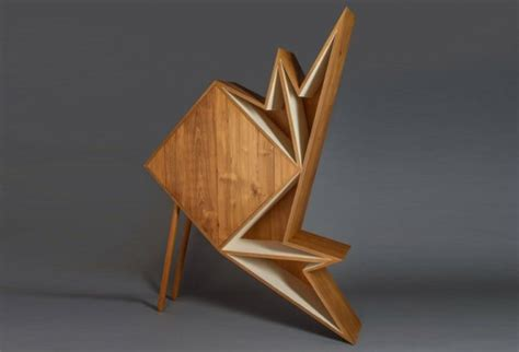 Origami Designer - aljoud lootah s oru origami furniture is made from teak