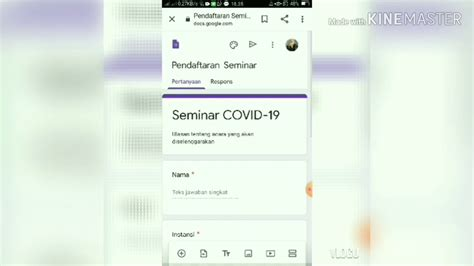tutorial google formulir  youtube