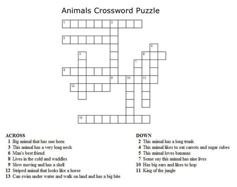 printable crossword puzzle maker 25 best ideas about kids crossword puzzles on pinterest