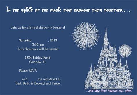 Disney Bridal Shower Invitations by Creating Princess Bridal Shower