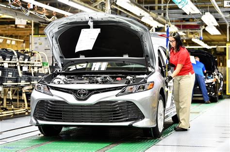 toyota products and 2018 toyota camry begins production motor trend