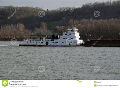 tugboat ohio tugboat and barge stock image image of push tugboat