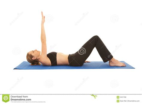 Pilates Mat Series by Pilates Exercise Series Royalty Free Stock Photos Image