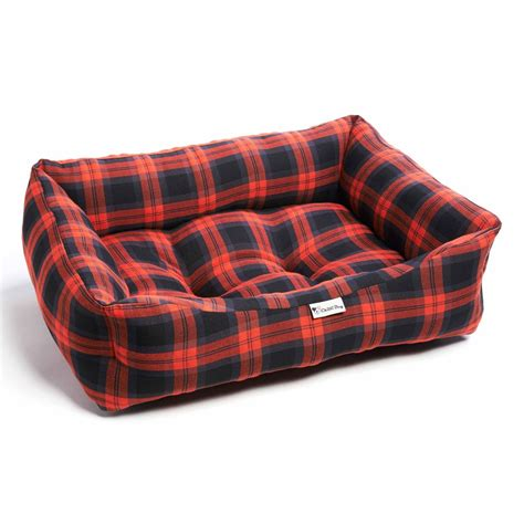 tartan sofa chilli dog red grey tartan sofa dog bed
